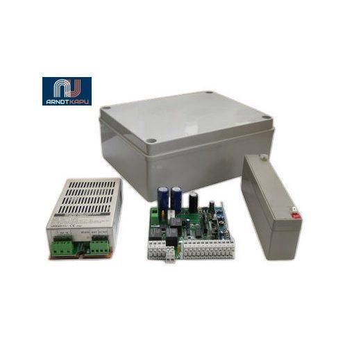 GardenGate Komplett toló-, és garázskapu vezérlő, 24V DC motorok vezérlésére, 130W-os motorkimenet,