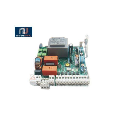 GardenGate 230Vac egymotoros vezérlés tolókapukhoz és sorompókhoz, beépített 434 MHz ugrókódós vevő,