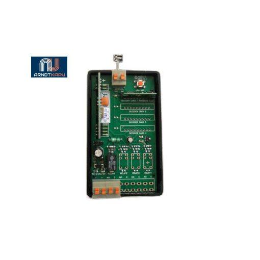 GardenGate 1 csatornás, 434 MHz ugrókódos vevő, 12V/24Vac-dc, záró kontaktusú