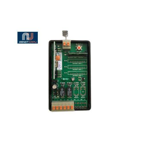 GardenGate 2 csatornás, 434 MHz ugrókódos vevő, 12V/24Vac-dc, záró kontaktusú