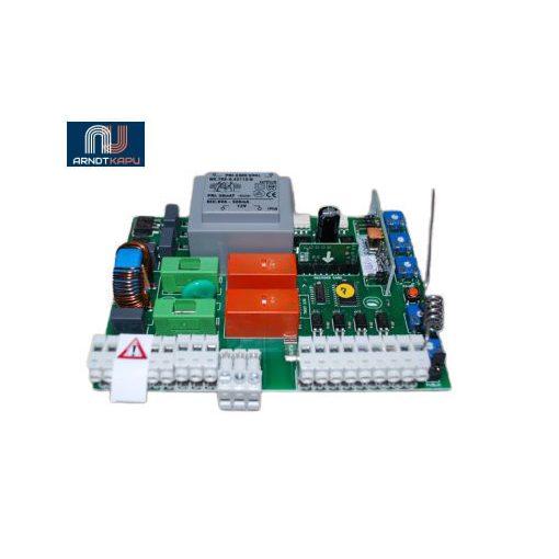 GardenGate 230Vac kétmotoros vezérlés szányaskapukhoz, beépített 434 MHz ugrókódós vevő, KeeLoq ugrókó