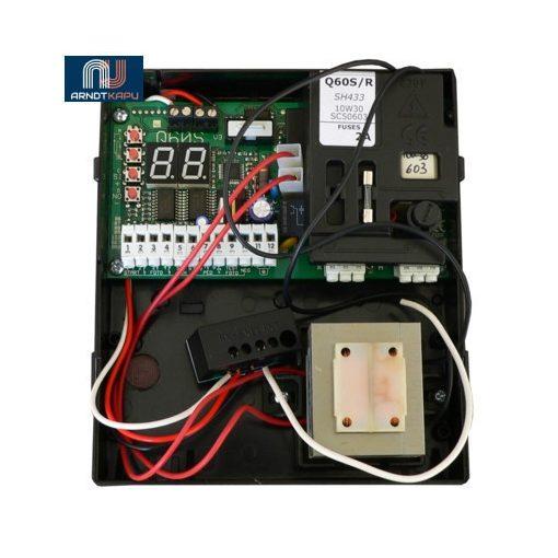 PROTECO egymotoros vezérlés tolókapukhoz fixkódos rádióvevővel. - Digitális programozás, kiskapu f