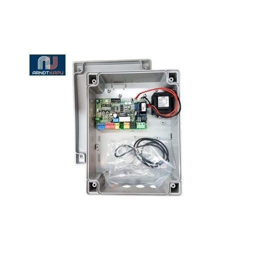 PROTECO Vezérlő panel egy / kétszárnyú beágyazott / lengő kapukhoz, 230 Vac, LED-es visszajelzések